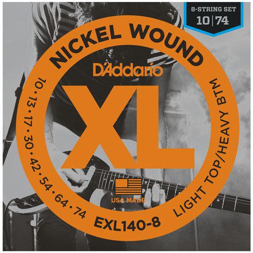 D'addario EXL140-8 Light Top/Heavy BTM 8-String Set