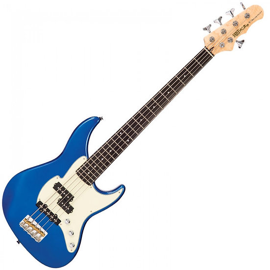 FRET KING BLACK LABEL PERCEPTION 5 BASS - CANDY APPLE BLUE