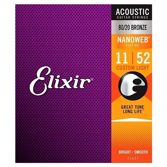 Elixir Nanoweb 11-52 80/20 Bronze Acoustic