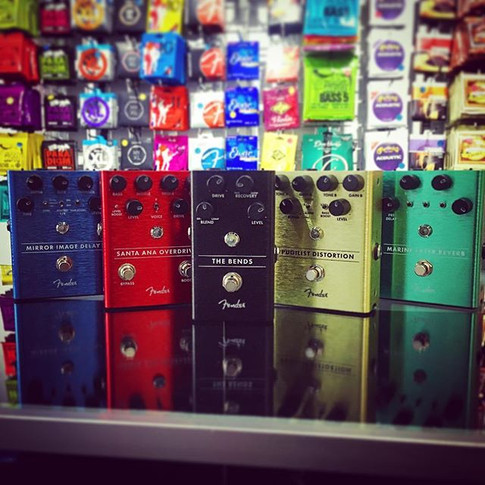 The #fullrange of _fender #pedals is now