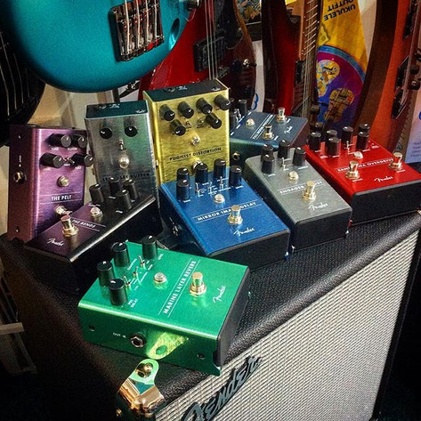 Our #beautiful #aray of _fender #pedals