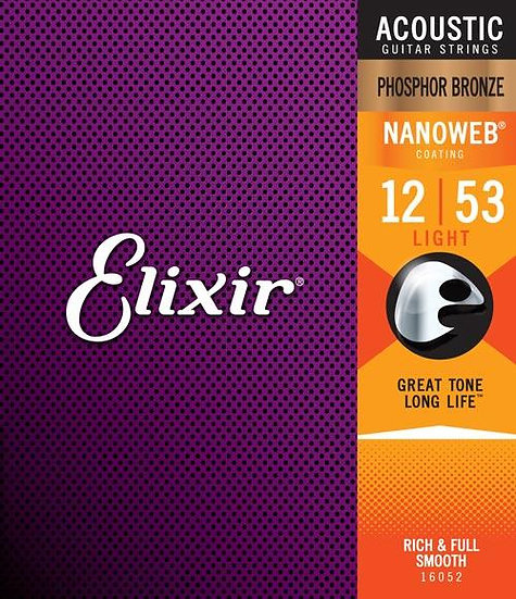 Elixir Nanoweb 12-53 Phosphor Bronze