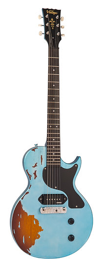VINTAGE V120 ICON - DISTRESSED GUN HILL BLUE ON SUNBURST