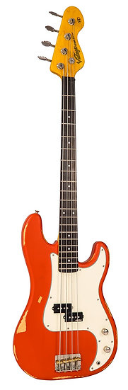 VINTAGE V4 BASS ICON - DISTRESSED FIRENZA RED