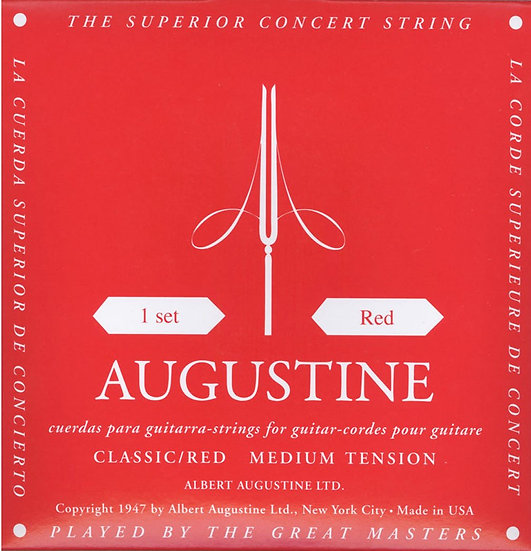 Augustine Classical Nylon String Red