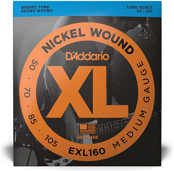 D'addario EXL160 Bass Strings Medium