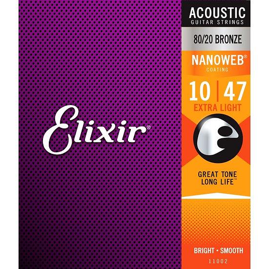 Elixir Nanoweb 10-47 80/20 Bronze Acoustic