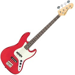 VINTAGE VJ74 BASS- CANDY APPLE RED