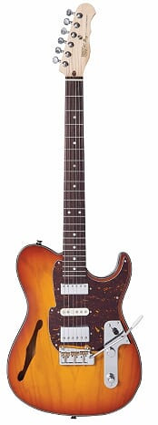 FRET KING BLACK LABEL COUNTRY SQUIRE SEMI-TONE DELUXE - HONEYBURST