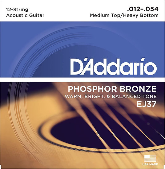 D'addario 12-String Phosphor Bronze Medium Top/Heavy Bottom
