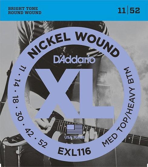 D'addario EXL116 Med Top/Heavy BTM