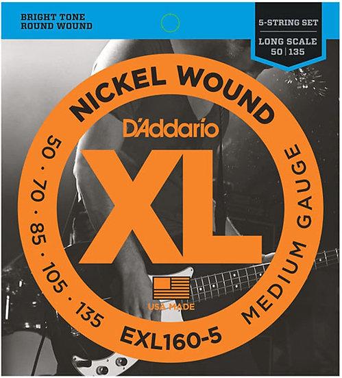 D'addario EXL160-5 5-String Medium