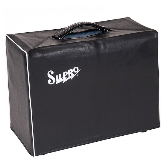 SUPRO BLACK AMP COVER - FITS 1 X 12 AND 2 X 10 COMBO