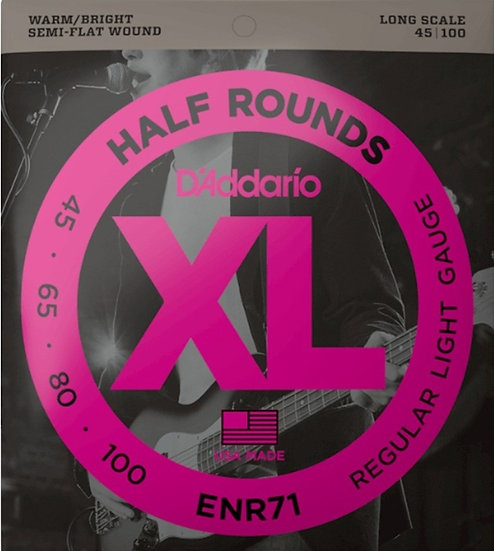 D'addario Half Round Bass Strings Regular Light
