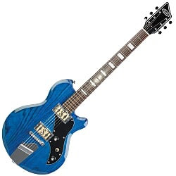 SUPRO WESTBURY BARITONE GUITAR - TRANS BLUE