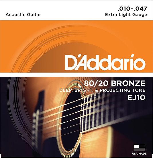 D'addario 80/20 Bronze Extra Light