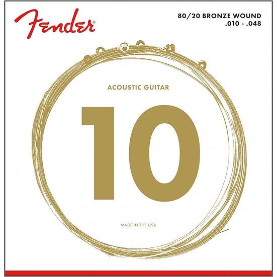 Fender 80/20 Bronze 10 - 48