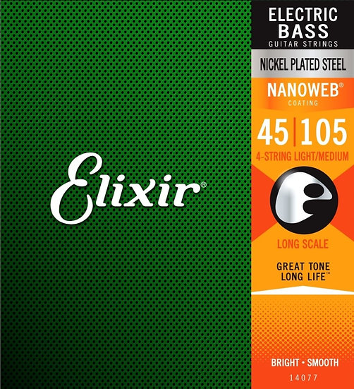 Elixir Nanoweb Bass 45-105
