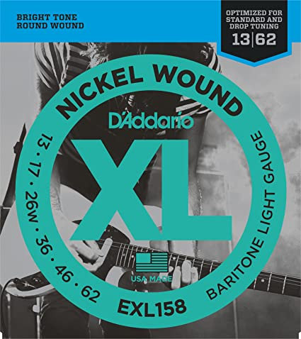 D'addario EXL158 Baritone Light Gauge