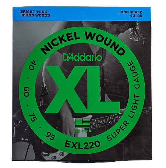 D'addario EXL220 Super Light Bass Strings
