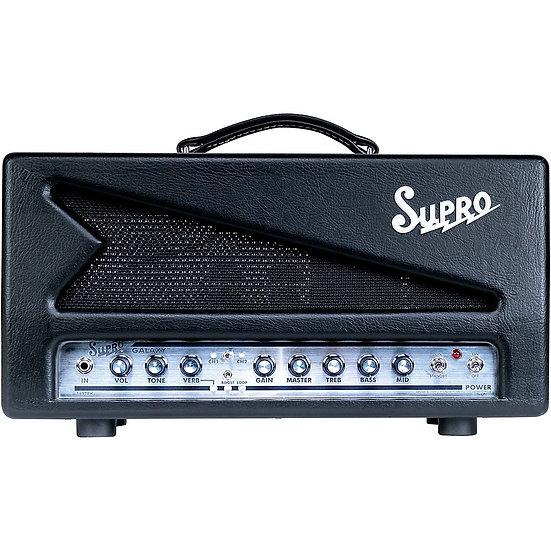 SUPRO GALAXY 50W CHANNEL SWITCHING AMP HEAD WITH REVERB - 240V