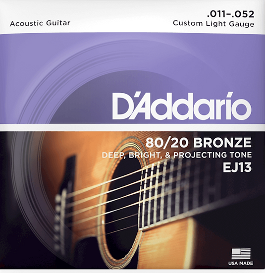 D'addario 80/20 Bronze Custom Light
