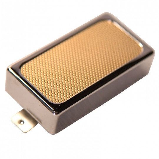 SUPRO PICK UP - GOLD FOIL HUMBUCKER WITH OPEN FRAME COVER - BRIDGE
