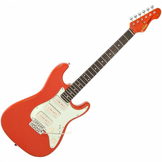 VINTAGE ELECTRIC GUITAR - 3W90 - FIRENZA RED