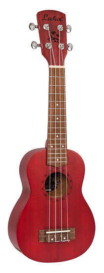 LAKA SOPRANO UKULELE & BAG - RED