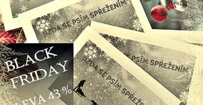 BLACK FRIDAY 43% sleva na dárkový poukaz
