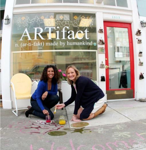 When Bianca and Lauren first opened ARTifact