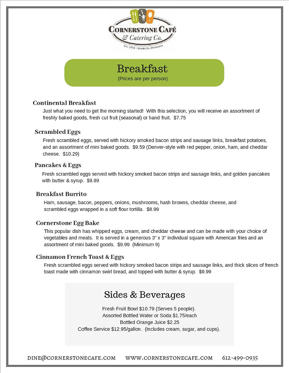 CATERING MENU-SALADS SANDWICHES AND SOUP