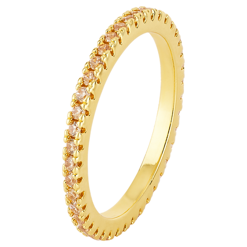 LILLY RING (GOLD STONES)