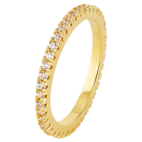 LILLY RING (WHITE STONES)