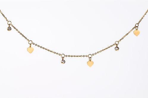 Heart Diamond Choker - Halskette