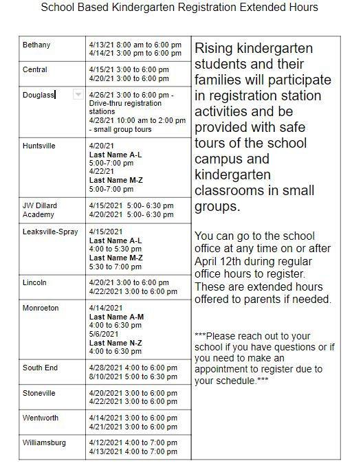 21-22 K registration school based extend