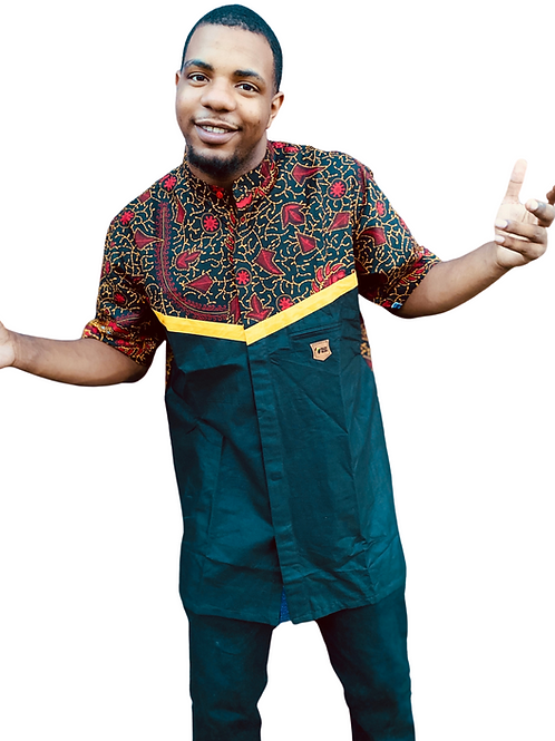 Black Sika Button-Up Shirt