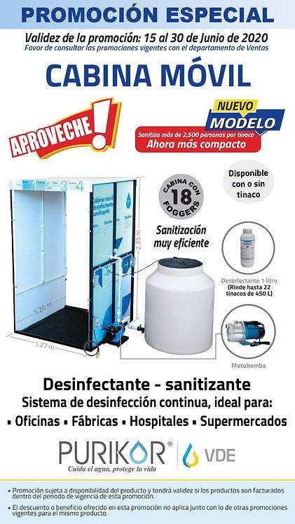 Cabina Móvil Desinfectante Sanitizante