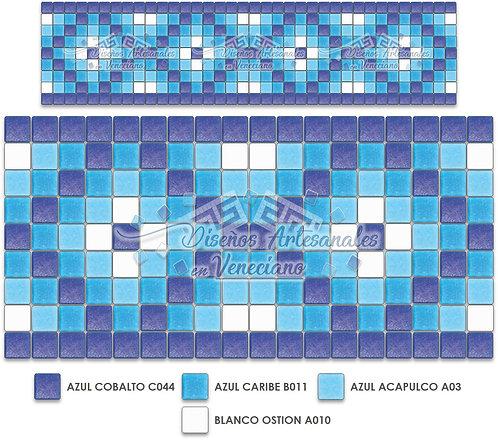 Cenefa Marroquí en Mosaico Veneciano