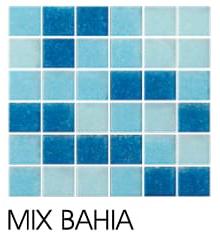Mosaico Veneciano para Piscina MIX BAHIA COMBINACIÓN DE AZULES MALLA