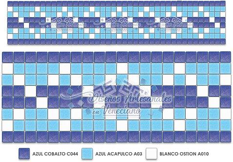 Cenefa Listón en Mosaico Veneciano