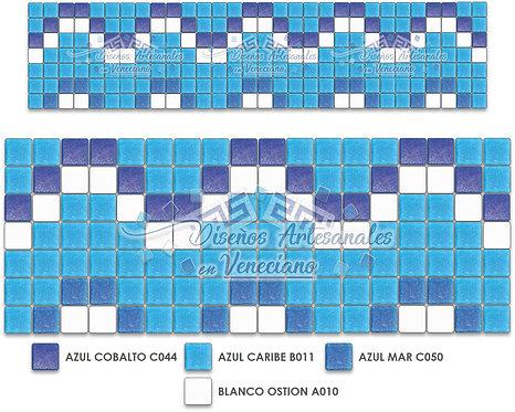 Cenefa Ice en Mosaico veneciano