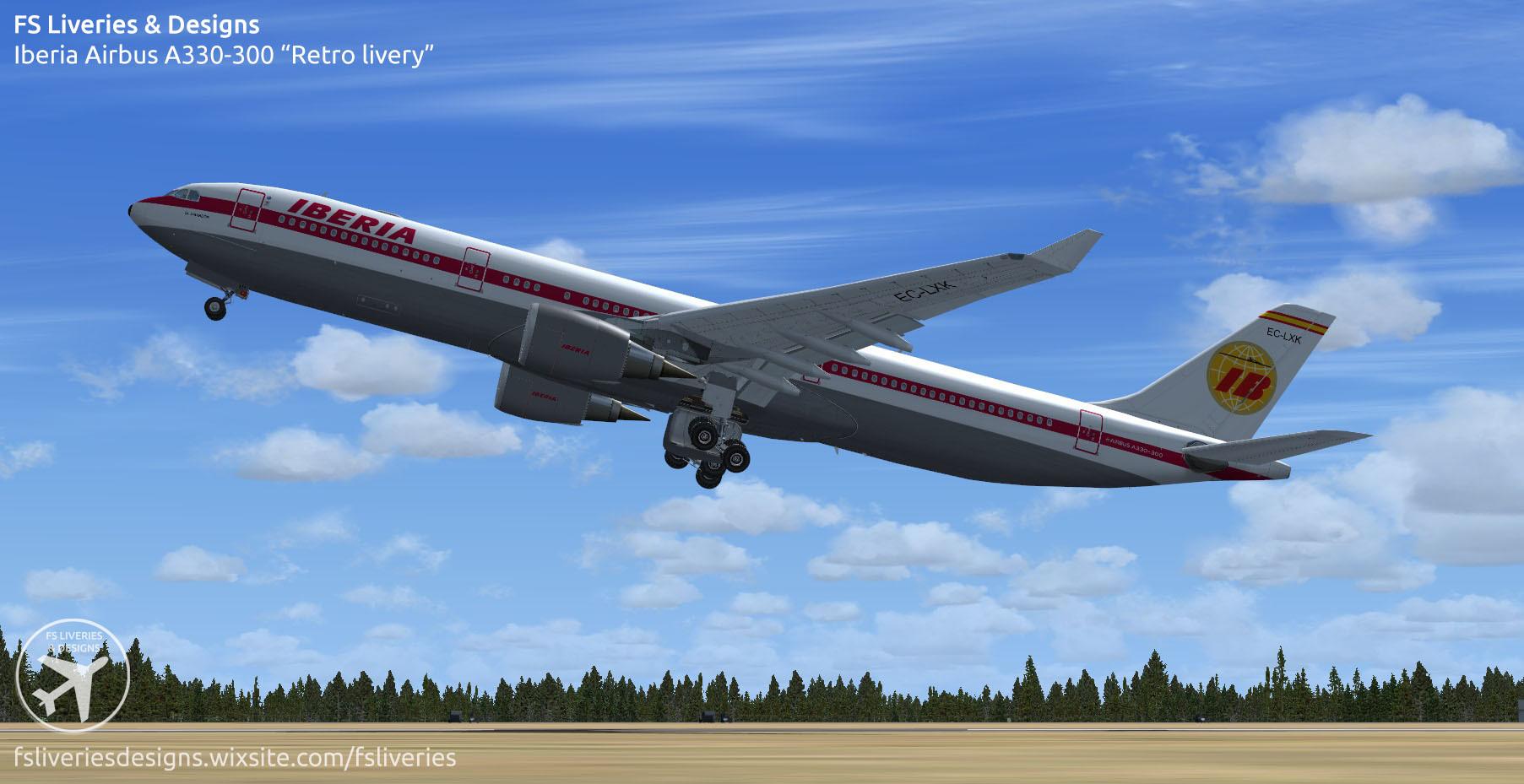 Iberia retro livery Airbus A330-300