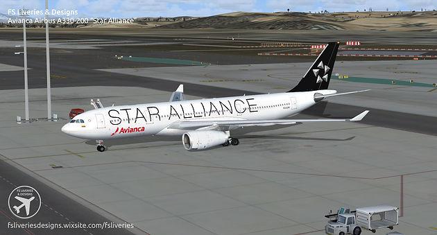 Avianca Star Alliance Airbus A330-200   FS Liveries & Designs