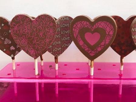 לוליס לבבות משוקולד