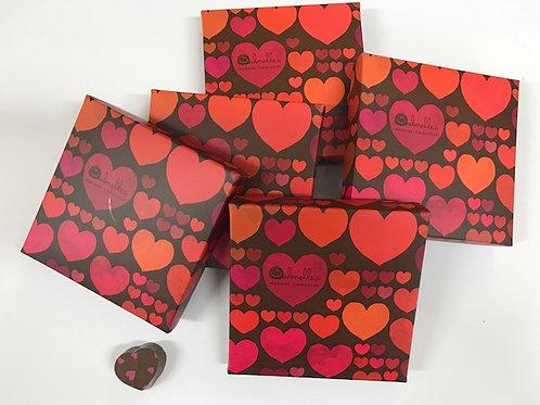קופסת 4 פרלינים לבבות
