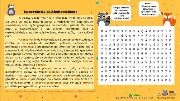 BIONLINE_CAÇA_PALAVRAS_IMPORTÂNCIA_BIO