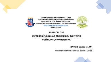 TUBERCULOSE: INFECÇÃO PULMONAR GRAVE E SEU CONTEXTO POLÍTICO-SOCIOAMBIENTAL