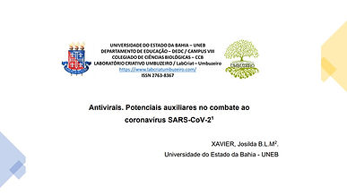 ANTIVIRAIS.POTENCIAIS AUXILIARES NO COMBATE AO CORONAVÍRUS SARS-COV-2