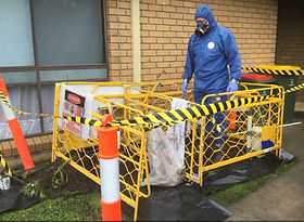 Asbestos pit remediation